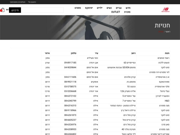 Screenshot of www.newbalance.co.il