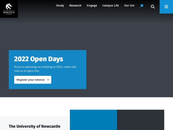 Screenshot of www.newcastle.edu.au