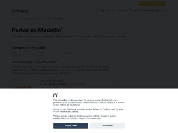 Captura de pantalla de www.nferias.com