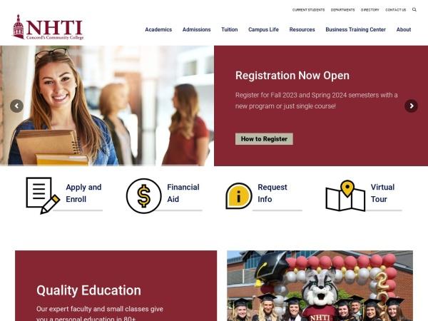 Screenshot of www.nhti.edu