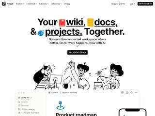 Screenshot of www.notion.so