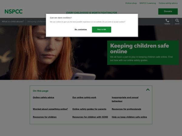 Screenshot of www.nspcc.org.uk