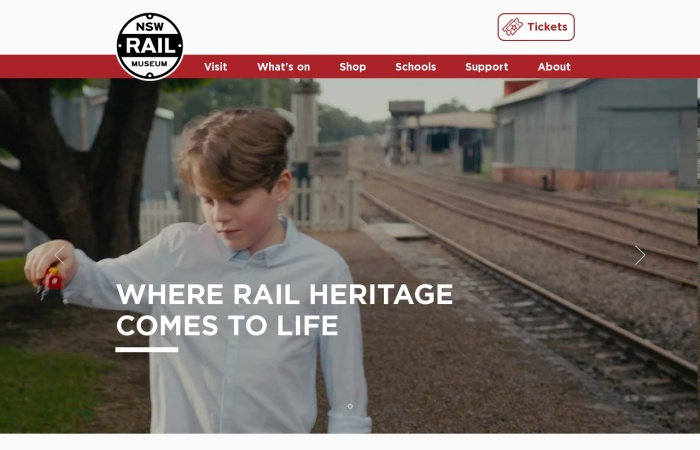 Screenshot of www.nswrailmuseum.com.au