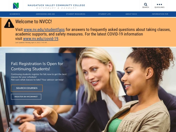 Screenshot of www.nv.edu
