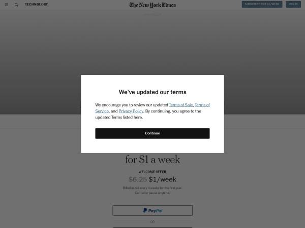 Screenshot of www.nytimes.com