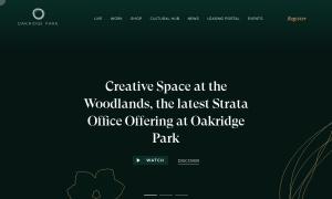 Oakridge Centreウェブサイトサムネイル