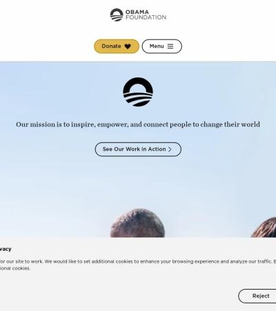 Screenshot of www.obama.org