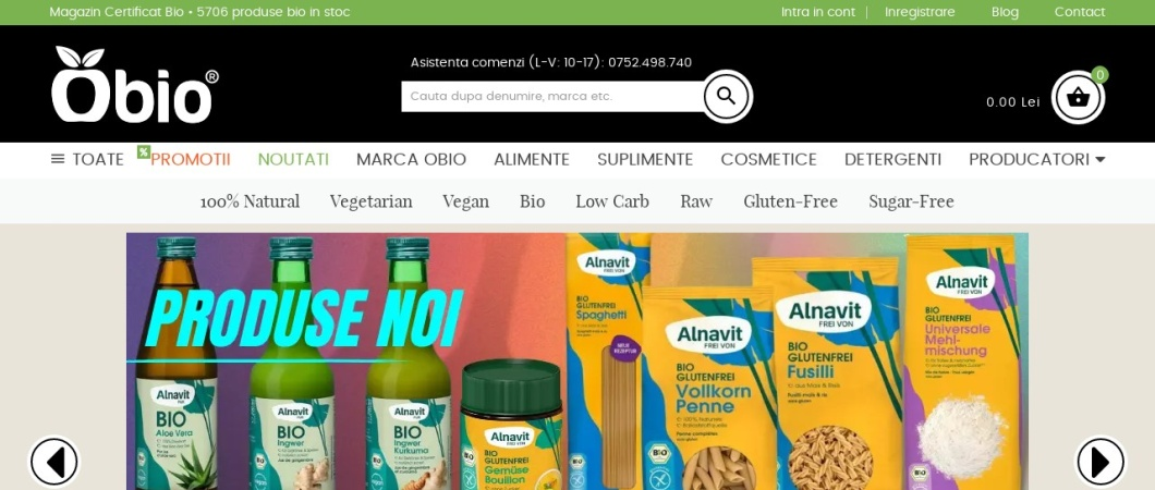 Screenshot of www.obio.ro