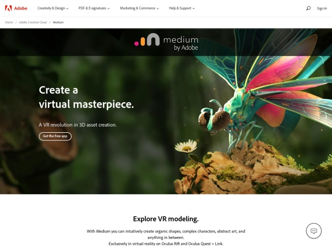 https://www.oculus.com/medium/
