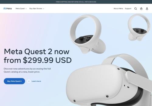 Screenshot of www.oculus.com