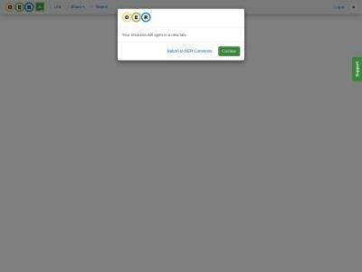 Screenshot of www.oercommons.org