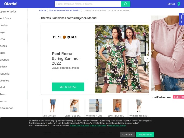 Captura de pantalla de www.ofertia.com