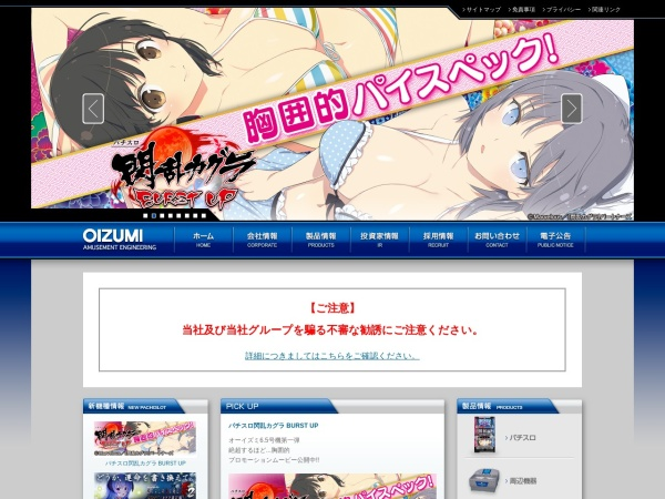Screenshot of www.oizumi.co.jp