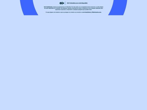 Captura de pantalla de www.olx.com.co