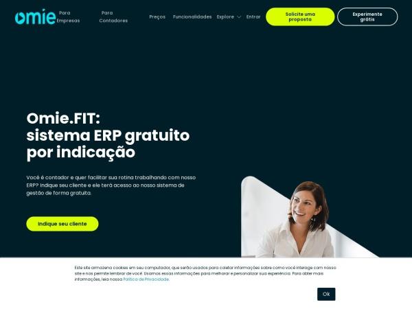 Screenshot of www.omie.com.br