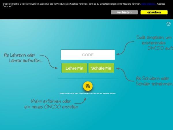 Screenshot von www.oncoo.de