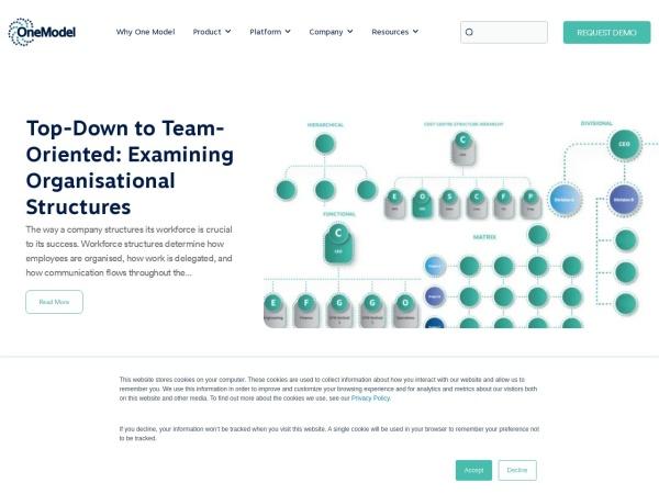 OneModel Blog Screenshot