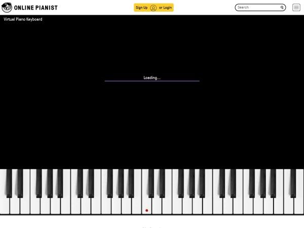Screenshot of www.onlinepianist.com