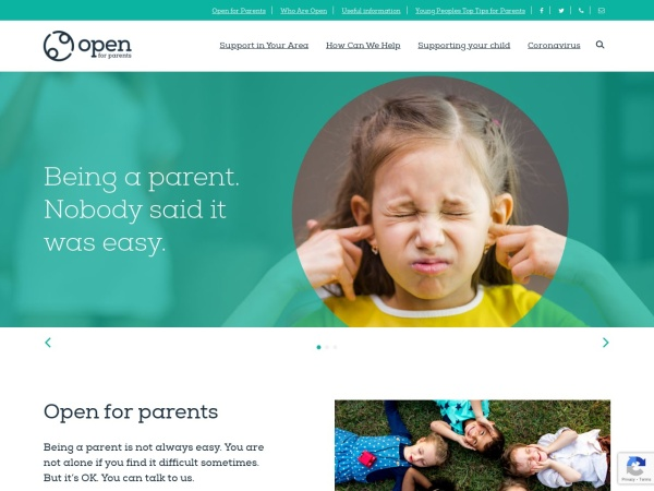 Screenshot of www.openforparents.org.uk
