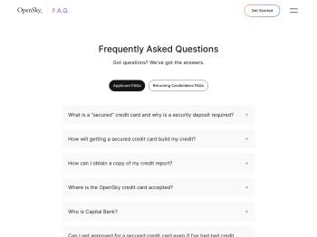 Help - OpenSky Secured Visa