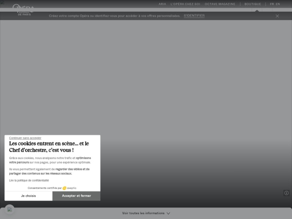 Screenshot of www.operadeparis.fr