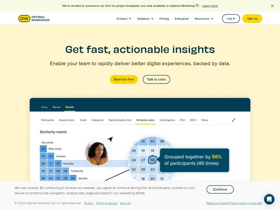 Screenshot of www.optimalworkshop.com