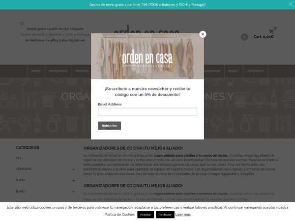 Captura de pantalla de www.ordenencasa.shop