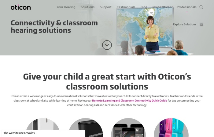 Screenshot of www.oticon.com