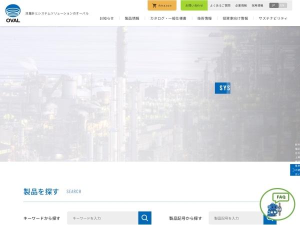 Screenshot of www.oval.co.jp