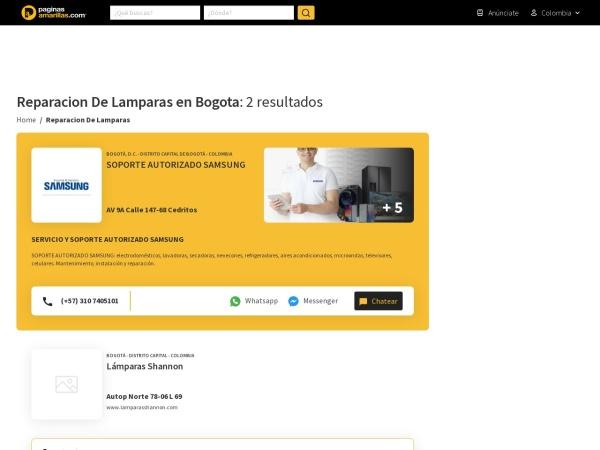 Captura de pantalla de www.paginasamarillas.com.co