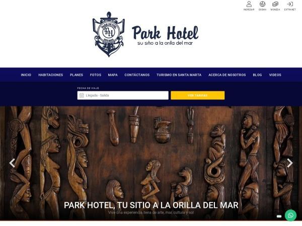 Captura de pantalla de www.parkhotel.com.co