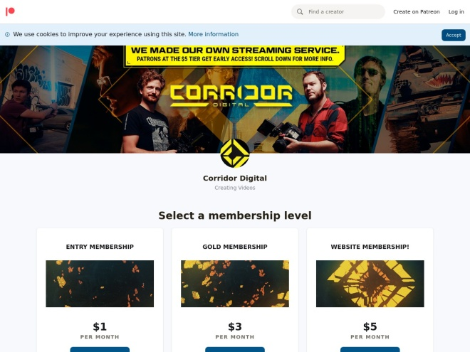 https://www.patreon.com/CorridorDigital