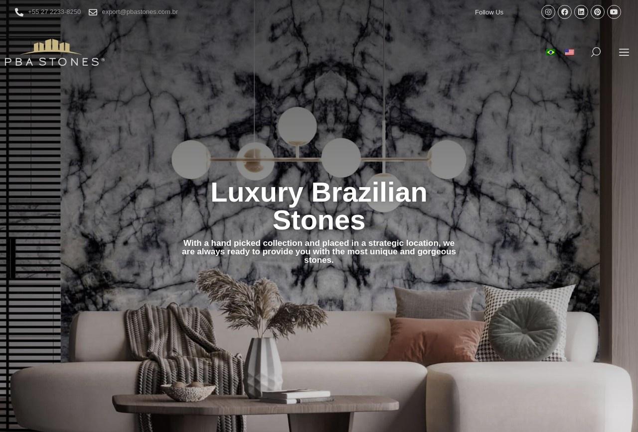 Screenshot of www.pbastones.com.br