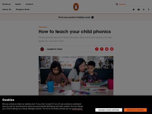 Screenshot of www.penguin.co.uk