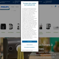 Screenshot of www.philips.fr