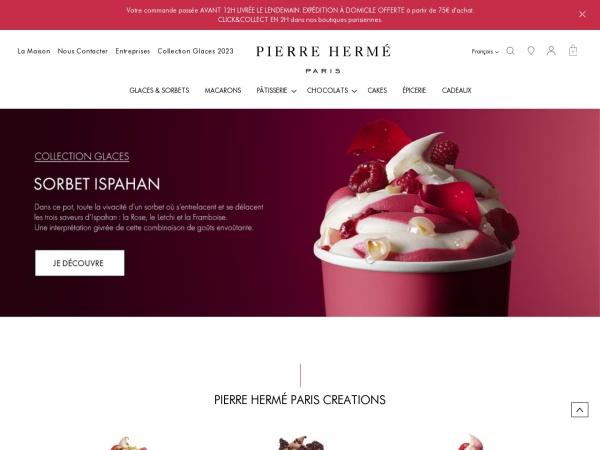 Screenshot of www.pierreherme.com