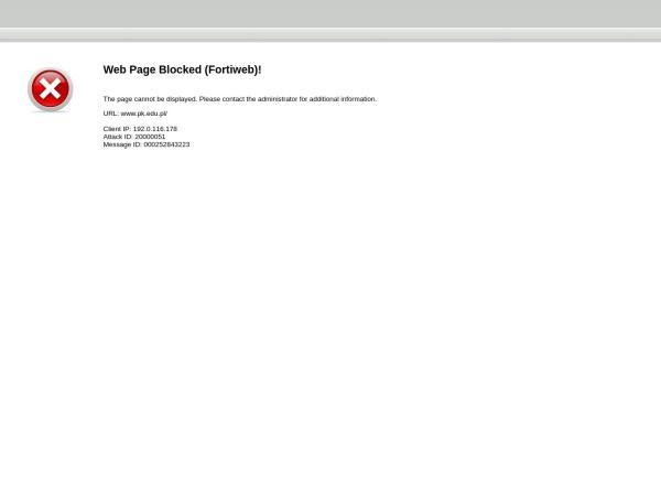 Screenshot of www.pk.edu.pl