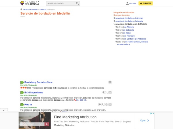 Captura de pantalla de www.planetacolombia.com