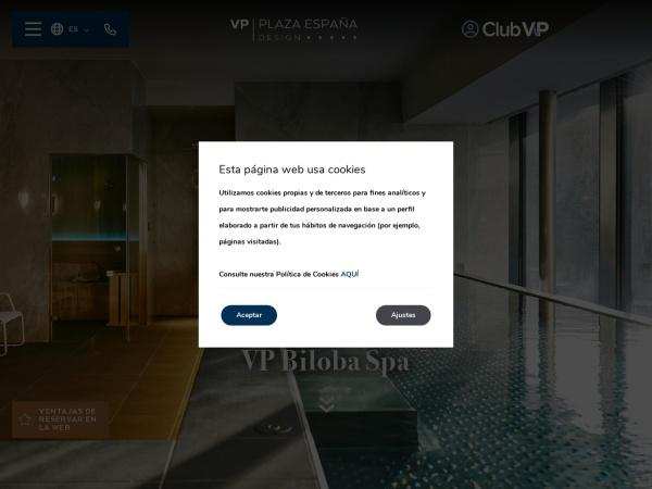 Captura de pantalla de www.plazaespana-hotel.com