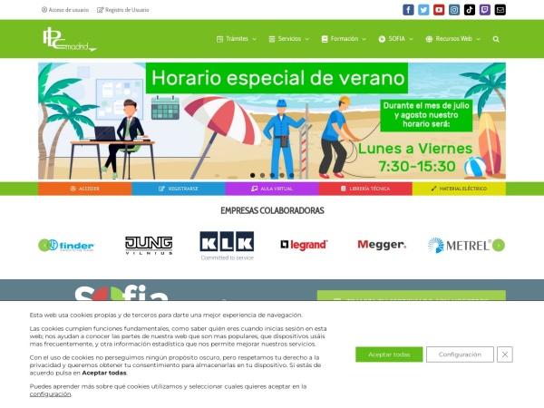 Captura de pantalla de www.plcmadrid.es