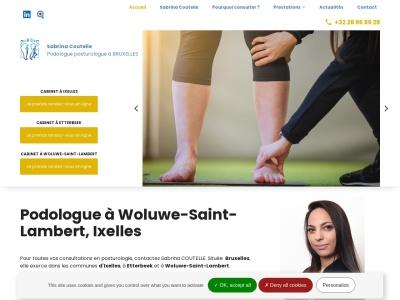 Sabrina COUTELLE, podologue posturologue vous propose ses services à Bruxelles, en Belgique