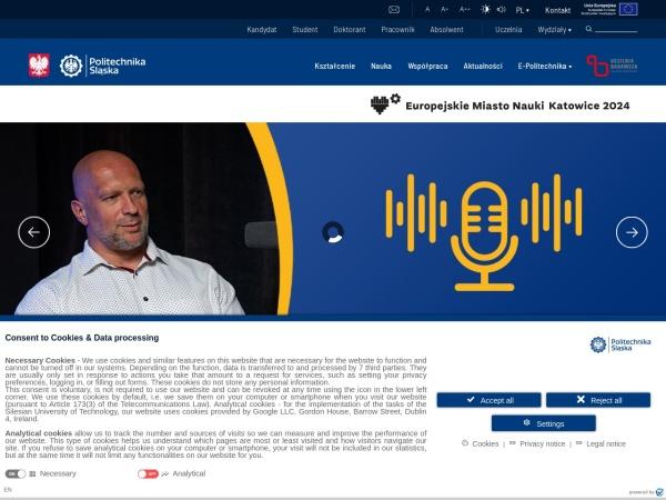 Screenshot of www.polsl.pl