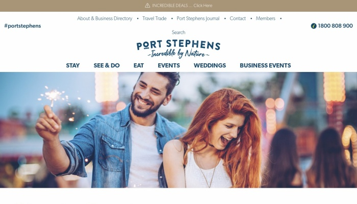 Screenshot of www.portstephens.org.au