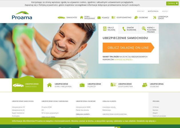 Screenshot of www.proama.pl