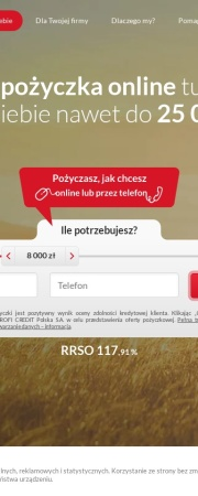 Screenshot of www.proficredit.pl