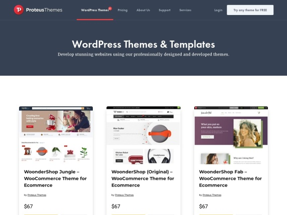 ProteusThemes home page