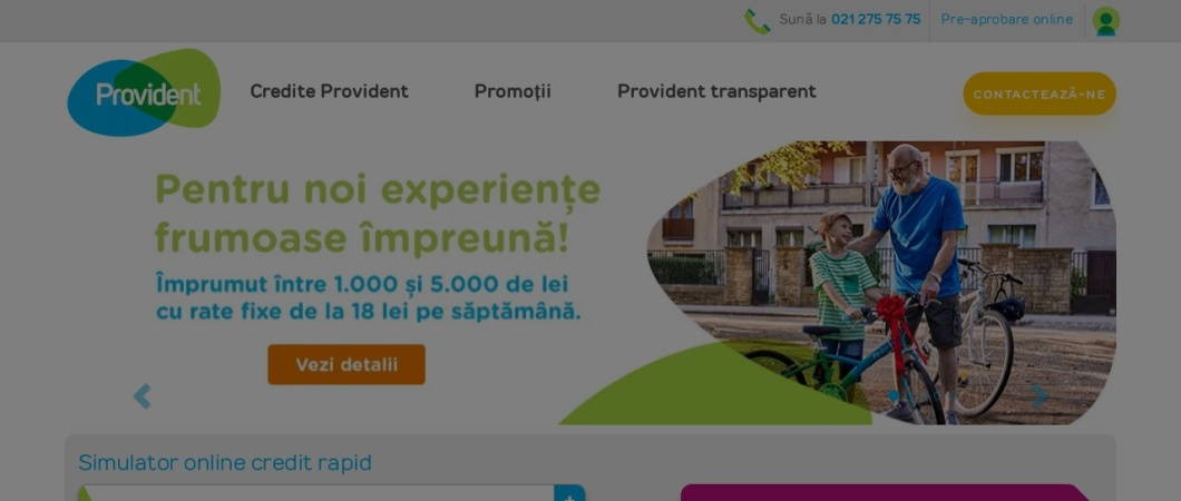 Screenshot of www.provident.ro