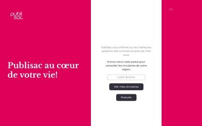 Screenshot of www.publisac.ca