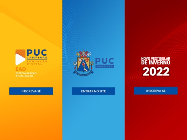 Screenshot of www.puc-campinas.edu.br