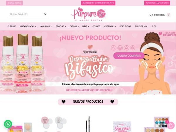 Captura de pantalla de www.purpuremakeup.com